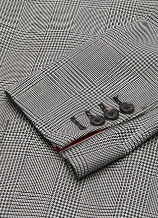 - THOM BROWNE - Double breasted four bar stripe sleeve sack jacket
