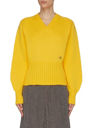 Main View - Click To Enlarge - VICTORIA BECKHAM - Seamless V-neck Wool Sweater
