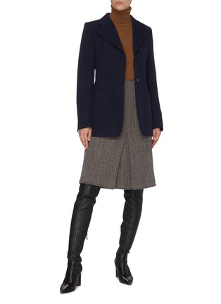 Figure View - Click To Enlarge - VICTORIA BECKHAM - 'Small Reverse' Fitted Wool Jacket
