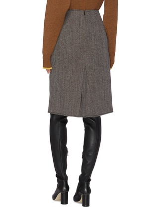 Back View - Click To Enlarge - VICTORIA BECKHAM - Box Pleat Wool Mini Skirt