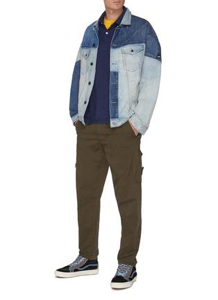Figure View - Click To Enlarge - DENHAM - 'Lloyd' chest pocket cotton polo shirt