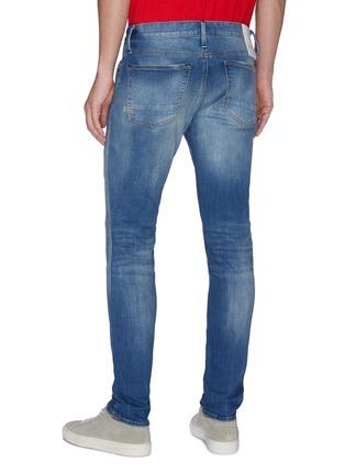 Back View - Click To Enlarge - DENHAM - Bolt' distress skinny jeans