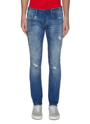 Main View - Click To Enlarge - DENHAM - Bolt' distress skinny jeans