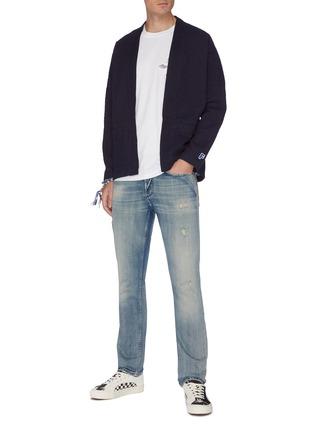 Figure View - Click To Enlarge - DENHAM - 'Razor' bleach wash skinny jeans