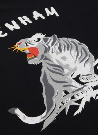 - DENHAM - Panther print cotton T-shirt
