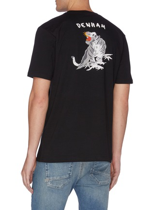 Back View - Click To Enlarge - DENHAM - Panther print cotton T-shirt
