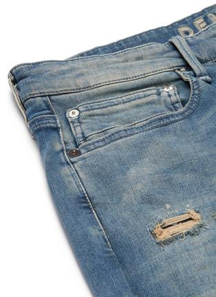 - DENHAM - 'Bolt' distressed sand wash skinny jeans