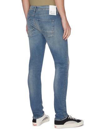 Back View - Click To Enlarge - DENHAM - 'Bolt' distressed sand wash skinny jeans