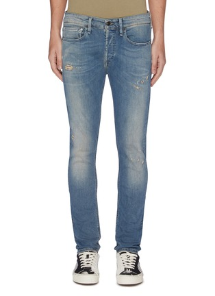 Main View - Click To Enlarge - DENHAM - 'Bolt' distressed sand wash skinny jeans