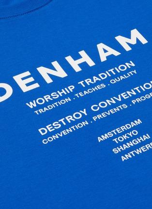 - DENHAM - 'Destroy Convention' slogan print cotton T-shirt