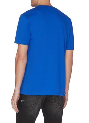 Back View - Click To Enlarge - DENHAM - 'Destroy Convention' slogan print cotton T-shirt