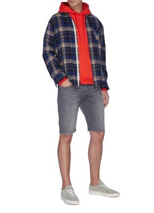 Figure View - Click To Enlarge - DENHAM - Razor' washed slim fit denim shorts