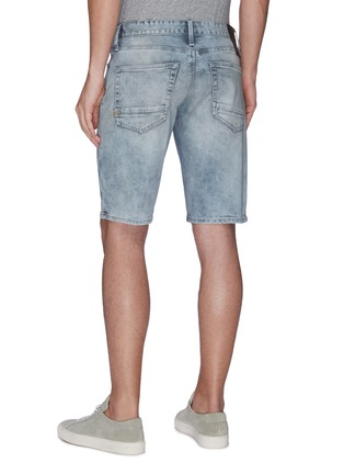 Back View - Click To Enlarge - DENHAM - Razor' distress bleach denim shorts