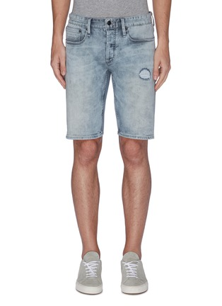 Main View - Click To Enlarge - DENHAM - Razor' distress bleach denim shorts