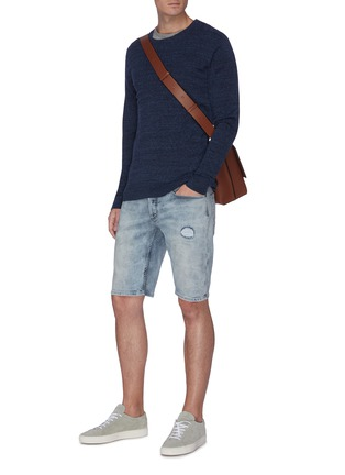 Figure View - Click To Enlarge - DENHAM - Razor' distress bleach denim shorts