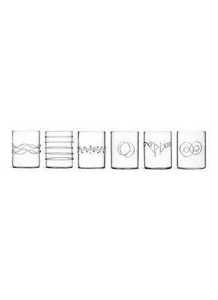 Main View - Click To Enlarge - ICHENDORF - Déco 6pcs glass set