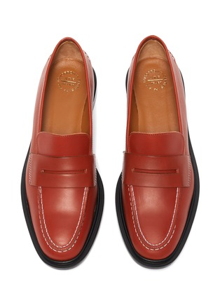 Detail View - Click To Enlarge - ATP ATELIER - Monti' contrast stitching leather loafers