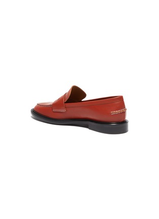 - ATP ATELIER - Monti' contrast stitching leather loafers