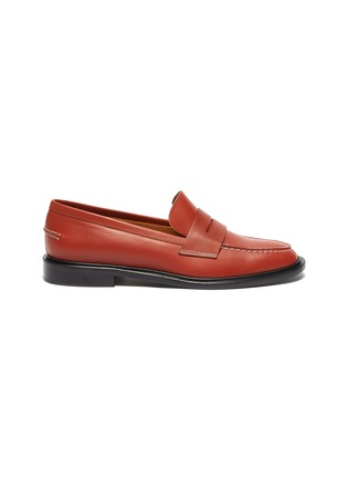 Main View - Click To Enlarge - ATP ATELIER - Monti' contrast stitching leather loafers