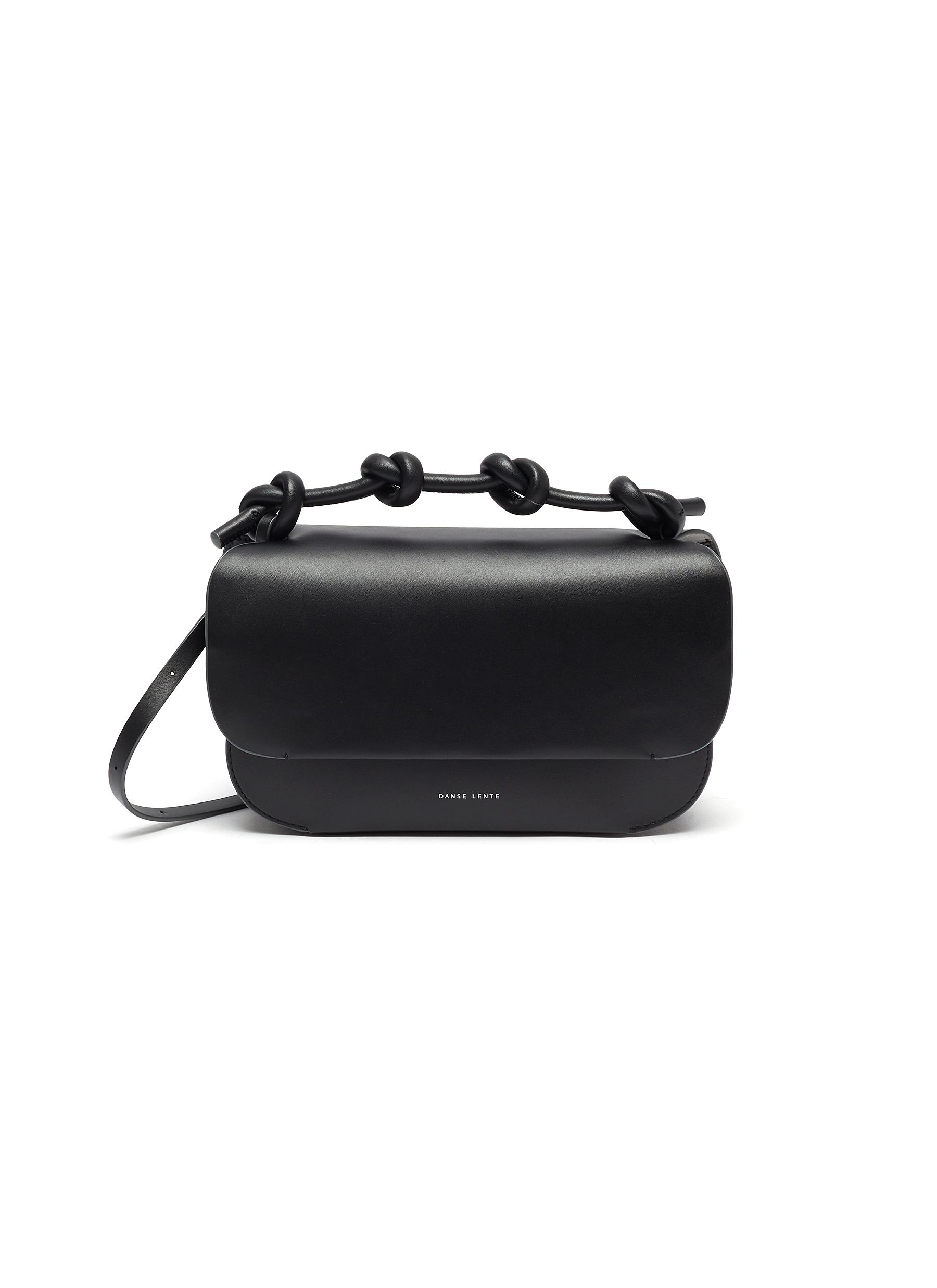 Danse Lente Leathers 'LEA' KNOTTED TOP HANDLE LEATHER CROSSBODY BAG