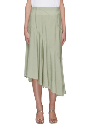 Main View - Click To Enlarge - VINCE - Tiered drape midi skirt