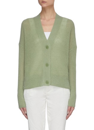 Main View - Click To Enlarge - VINCE - Open stitch cardigan