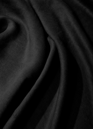 Detail View - Click To Enlarge - L'OBJET - Sateen Medium Linen Tablecloth – Black