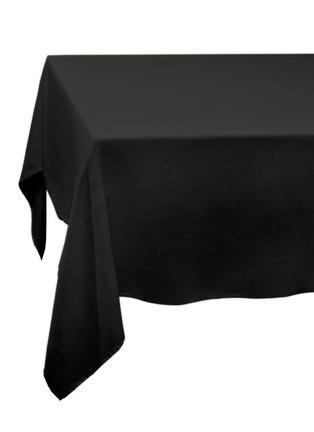 Main View - Click To Enlarge - L'OBJET - Sateen Medium Linen Tablecloth – Black