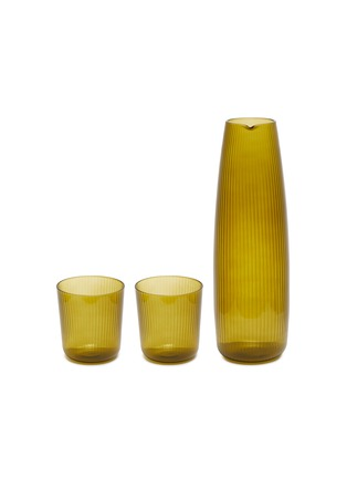 Main View - Click To Enlarge - R+D LAB - LUISA CARAFE AND VINO GLASS SET – Citrine Green
