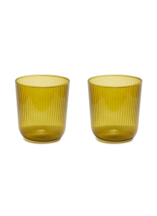 Main View - Click To Enlarge - R+D LAB - LUISA VINO GLASS SET – Citrine green