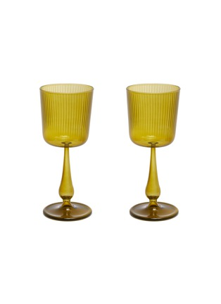 Main View - Click To Enlarge - R+D LAB - LUISA CALICE GLASS SET – Citrine Green