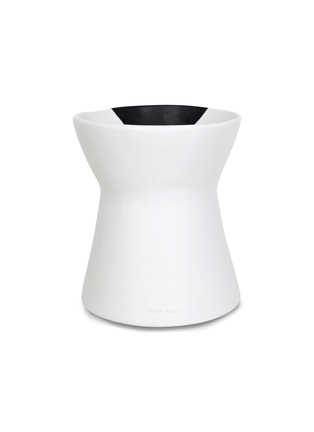 Detail View - Click To Enlarge - DINOSAUR DESIGNS - Bow resin vase – Black Dot on Chalk