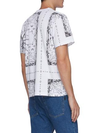 Back View - Click To Enlarge - SACAI - x Dr Woo bandana print T-shirt