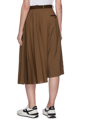 Back View - Click To Enlarge - SACAI - Pleated side tailored belted culotte pants