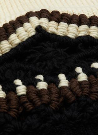 - SACAI - Tribal turtleneck crochet knit sweater