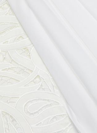 - SACAI - Paisley lace panel pleated midi skirt