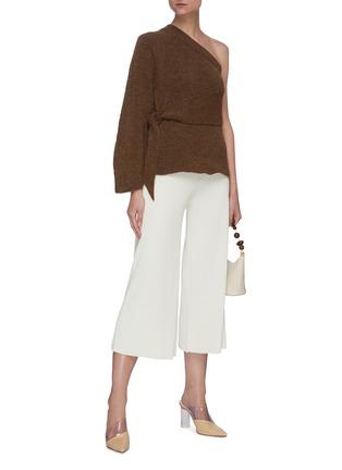 Figure View - Click To Enlarge - NANUSHKA - 'Cleto' one shoulder knit sweater