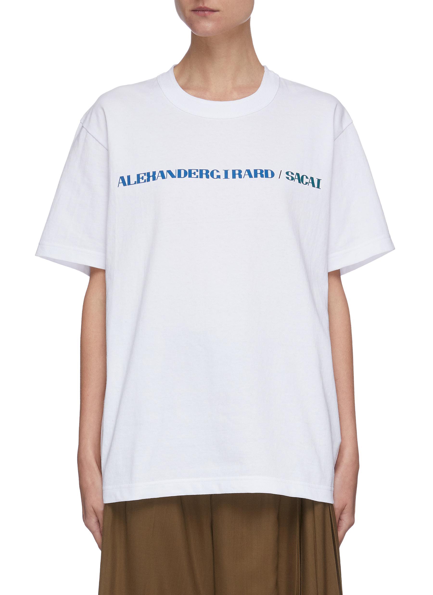 Sacai X ALEXANDER GIRARD LOGO PRINT T-SHIRT