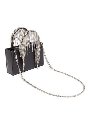 Detail View - Click To Enlarge - KARA - Midi crystal fringe leather tote bag