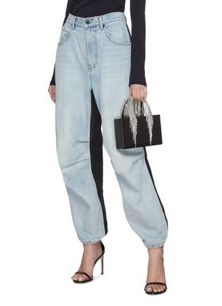 Figure View - Click To Enlarge - KARA - Midi crystal fringe leather tote bag