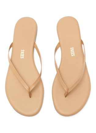 Detail View - Click To Enlarge - TKEES - Foundations Matte leather flip flops