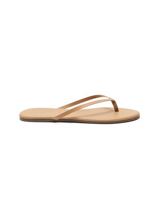 Main View - Click To Enlarge - TKEES - Foundations Matte leather flip flops