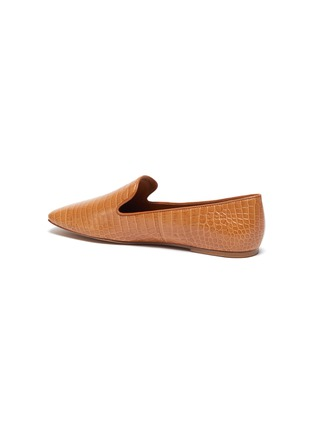 - VINCE - Clark' croc embossedleather square toe loafers