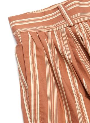 - CHLOÉ - Pinstripe slit side shorts