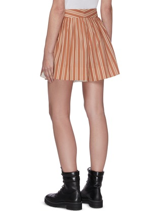 Back View - Click To Enlarge - CHLOÉ - Pinstripe slit side shorts