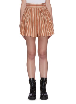 Main View - Click To Enlarge - CHLOÉ - Pinstripe slit side shorts