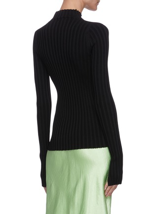Back View - Click To Enlarge - HELMUT LANG - Shoulder cut out rib knit sweater