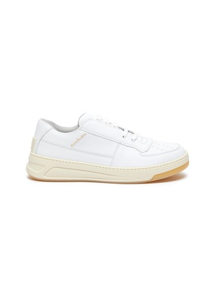 Main View - Click To Enlarge - ACNE STUDIOS - Face motif lace-up sneakers