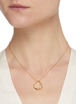 Figure View - Click To Enlarge - OLIVIA YAO - 'Golden Ripple' freshwater pearl necklace