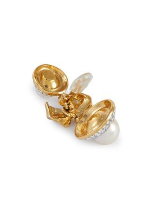 Detail View - Click To Enlarge - LANE CRAWFORD VINTAGE ACCESSORIES - 'Nina Ricci' diamanté large pearl drop earrings